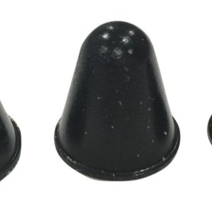 Conical Rubber Bumpers Black - 16 PC Combo