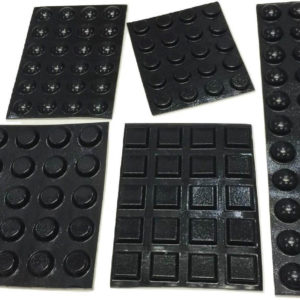Black Adhesive Bumper Pads Combo (Round, Spherical, Square)