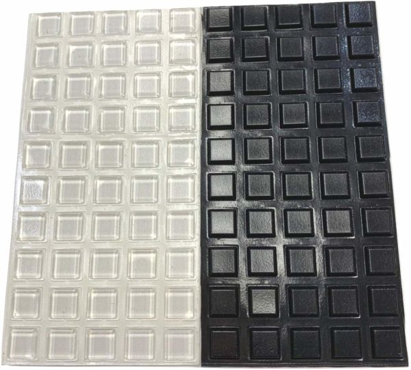 Pack of 100 Square Adhesive Bumper Pads