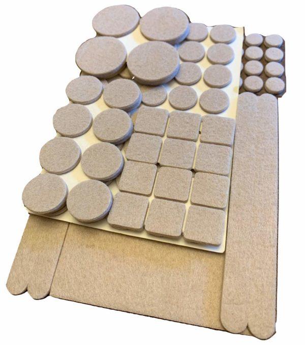 Felt Furniture Pads (113 Piece Combo)