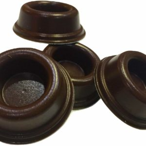 Rubber Door Stopper Bumpers (Pack of 4) Brown