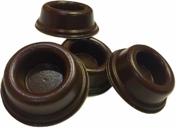 Rubber Door Stopper Bumpers (Pack of 4) Brown